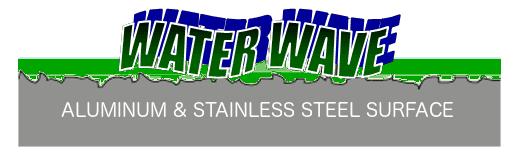 WaterWave over metal pores