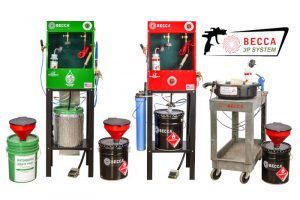 3P spray gun cleaning and waste management system